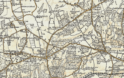 Old map of Baker's Wood in 1898-1902