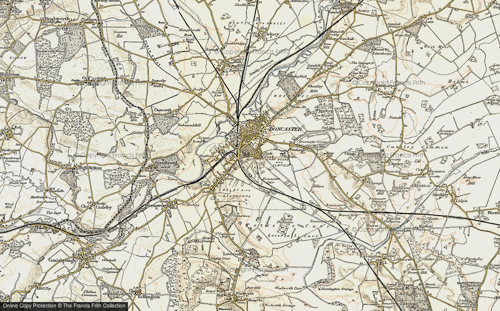 Old Map of Doncaster, 1903 in 1903