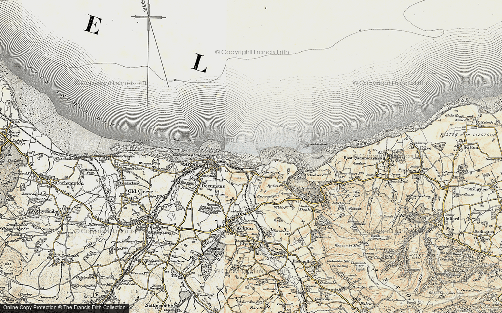 Old Map of Doniford, 1898-1900 in 1898-1900