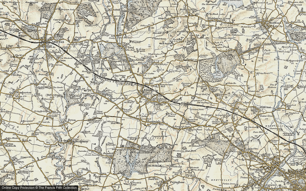 Old Map of Donington, 1902 in 1902