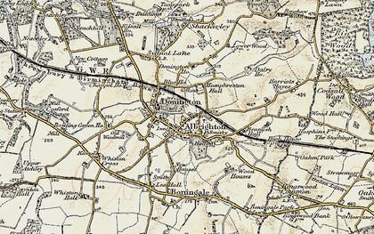 Old map of Donington in 1902