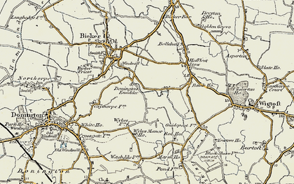 Old map of Donington Eaudike in 1902-1903