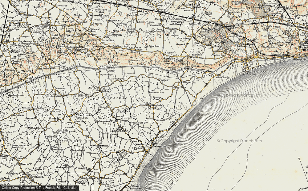 Old Map of Historic Map covering Abbott's Court in 1898