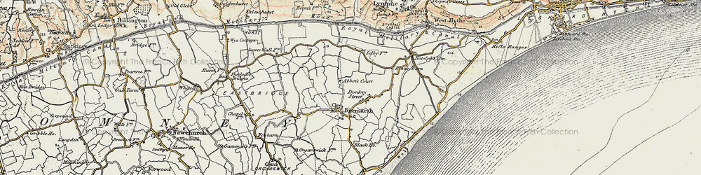 Old map of Abbott's Court in 1898