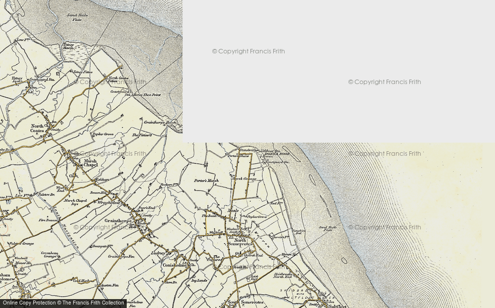 Old Map of Historic Map covering Laramie in 1903-1908