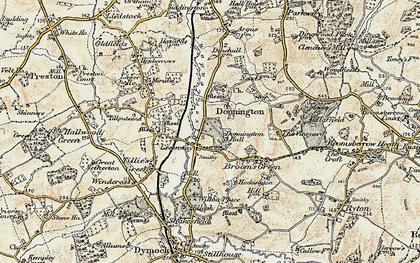 Old map of Donnington in 1899-1900