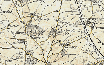 Old map of Donnington in 1899