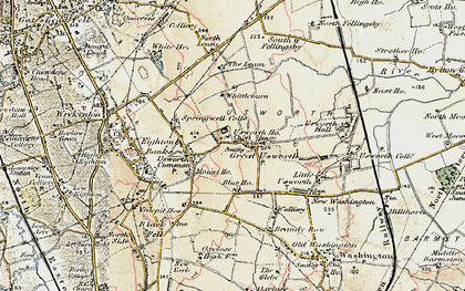 Old map of Leam, The in 1901-1904