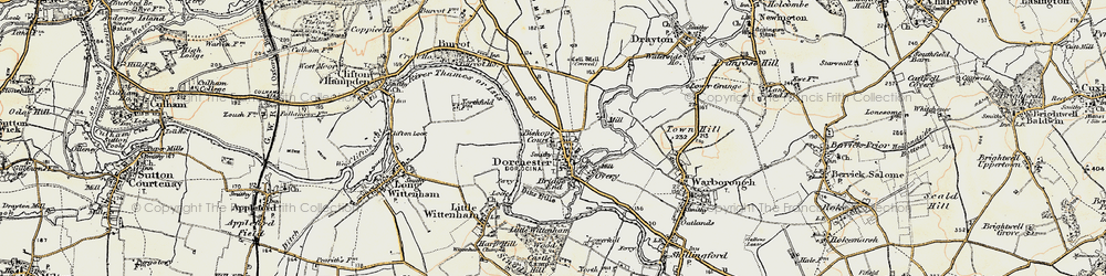 Old map of Dorchester in 1897-1899