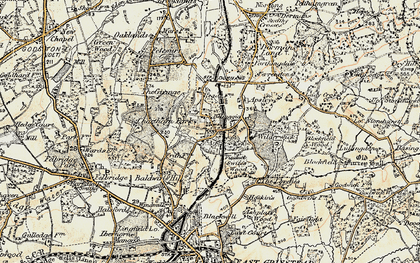 Old map of Dormans Park in 1898-1902