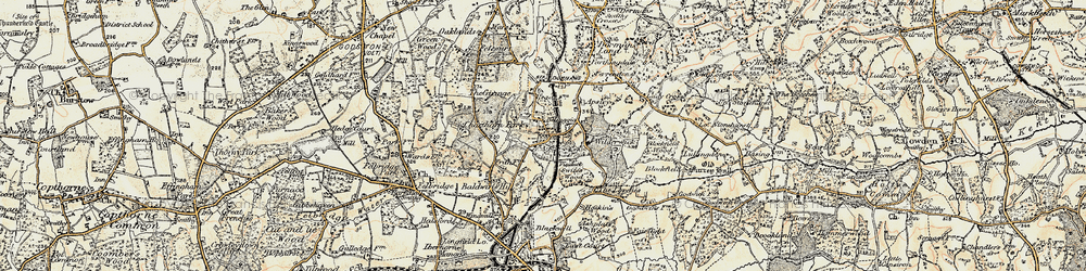 Old map of Wilderwick Ho in 1898-1902