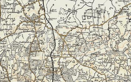 Old map of Dormansland in 1898-1902