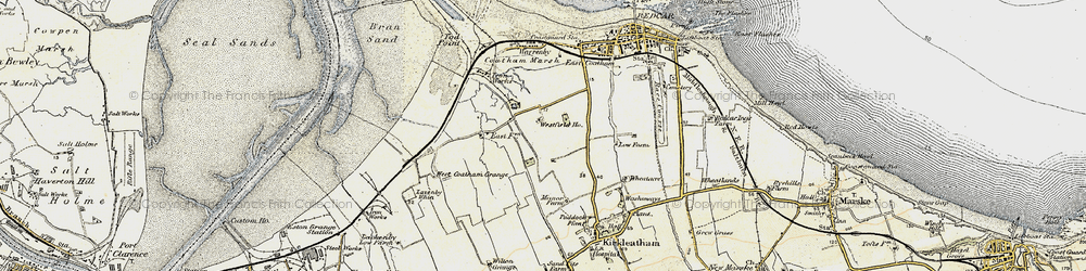 Old map of Dormanstown in 1903-1904