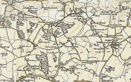 Old map of Ballom Hill in 1899-1902