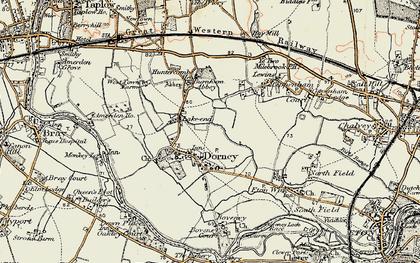 Old map of Dorney in 1897-1909