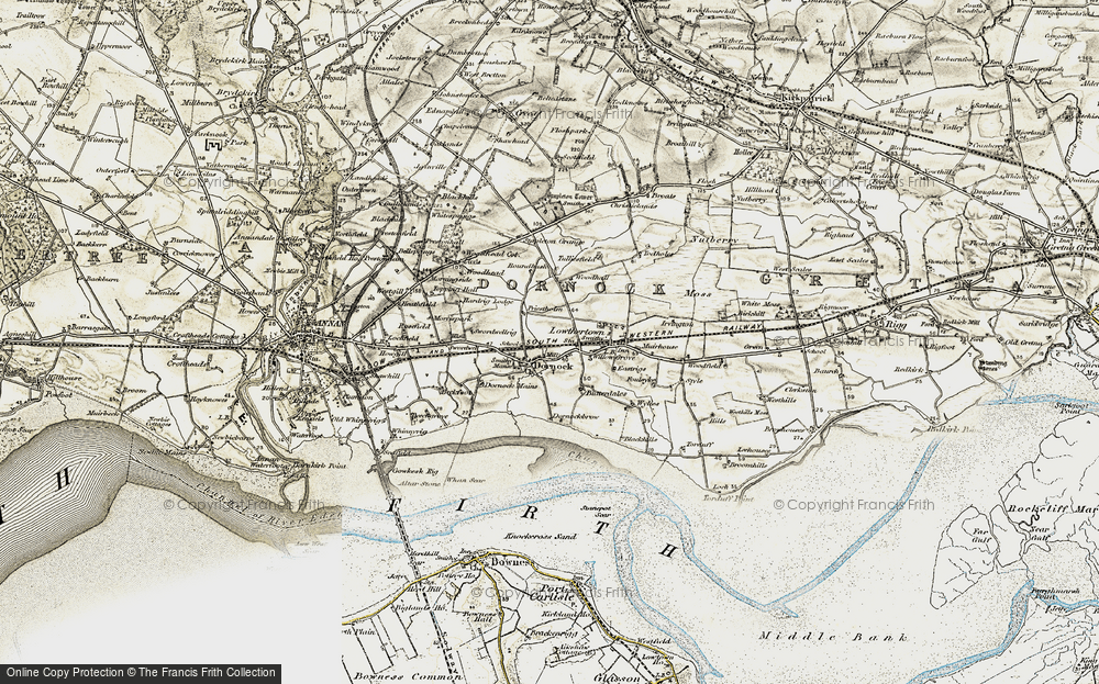 Old Map of Historic Map covering Woodhall in 1901-1904