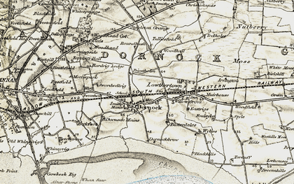 Old map of Woodhall in 1901-1904