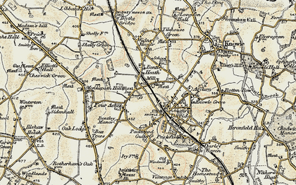 Old map of Dorridge in 1901-1902