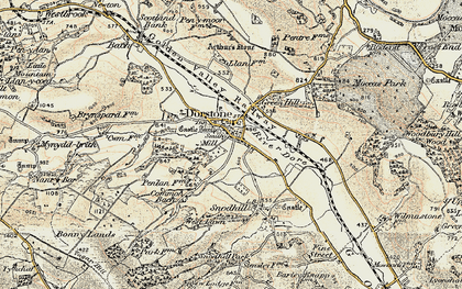 Old map of Arthur's Stone in 1900-1901