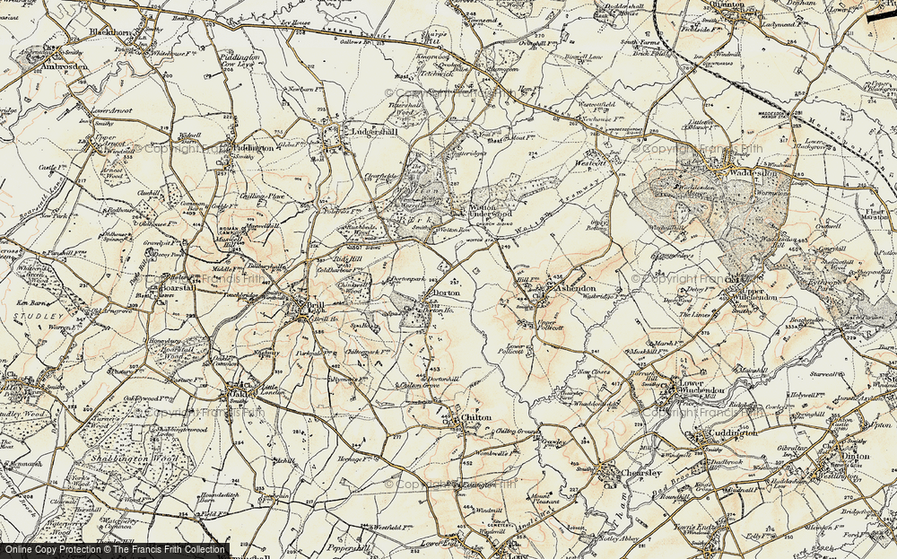 Old Map of Historic Map covering Ashfold School in 1898-1899
