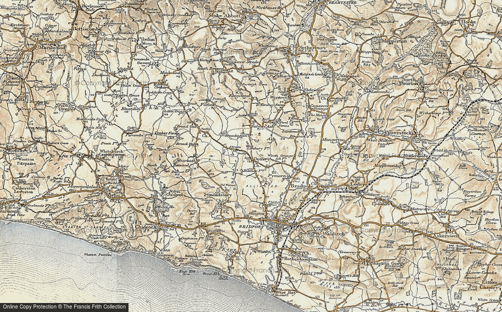 Old Map of Historic Map covering Limbury in 1898-1899