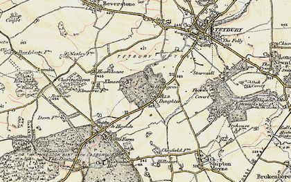 Old map of Doughton in 1898-1899