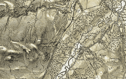Old map of Arkney Hill in 1904-1905