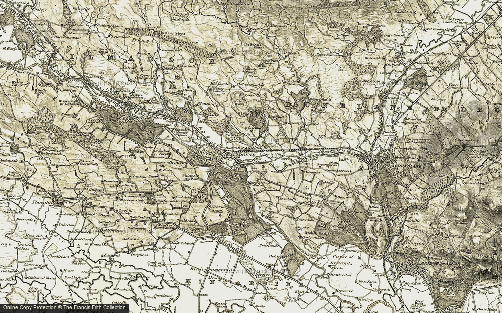 Old Map of Historic Map covering Lerrocks in 1904-1907
