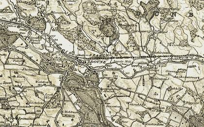 Old map of Lerrocks in 1904-1907