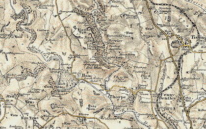 Old map of Dovedale in 1902