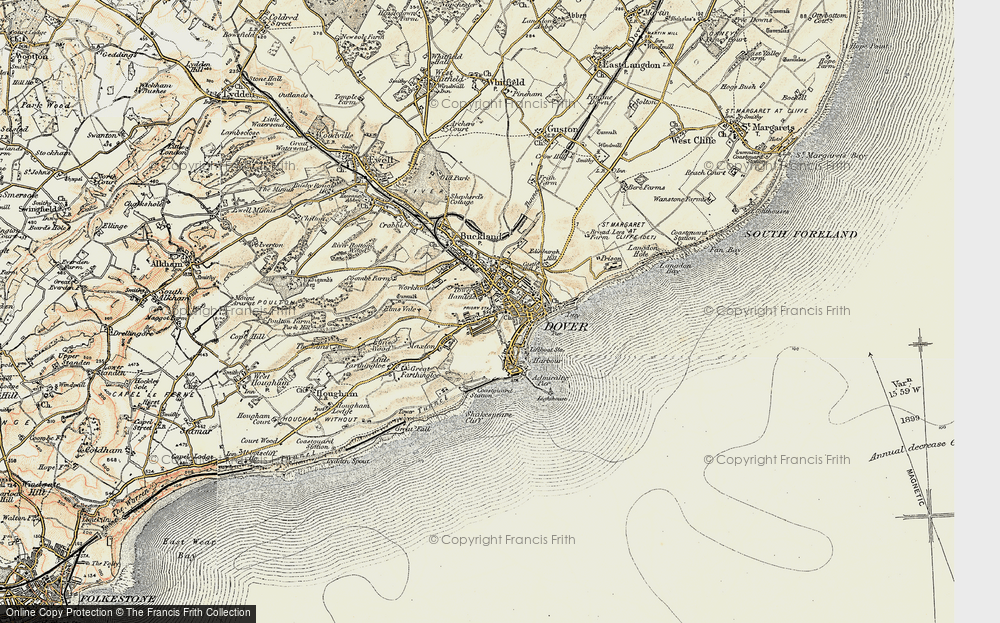 Old Map of Dover, 1898-1899 in 1898-1899