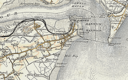 Old map of Dovercourt in 1898-1899