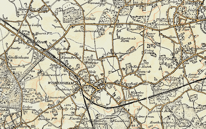 Old map of Ashridge Manor in 1897-1909