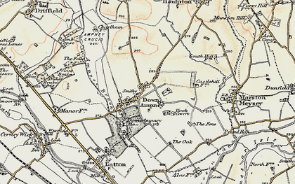 Old map of Down Ampney in 1898-1899