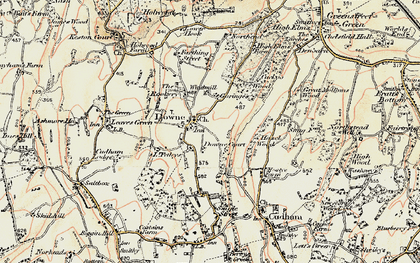 Old map of Downe in 1897-1902