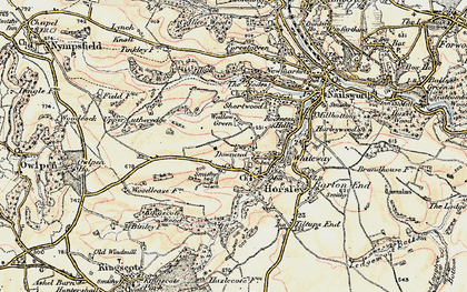 Old map of Downend in 1898-1900