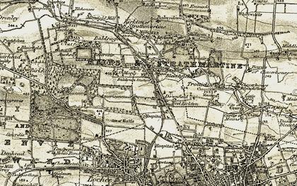 Old map of Baldovan Ho in 1907-1908