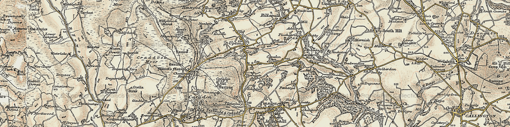 Old map of Ley in 1900