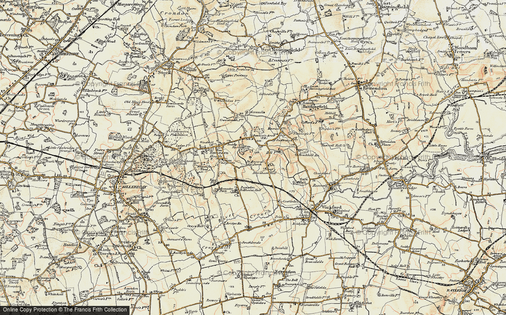 Old Map of Downham, 1898 in 1898