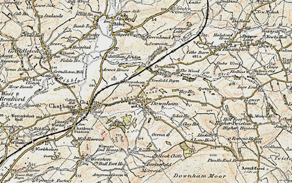 Old map of Downham in 1903-1904