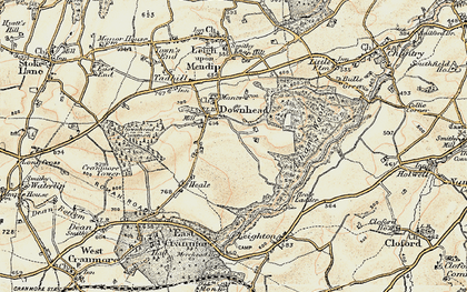 Old map of Asham Wood in 1899