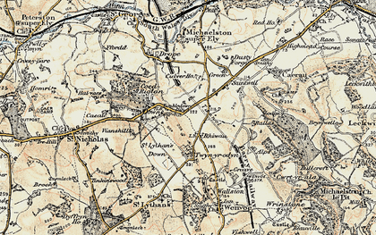 Old map of Balas in 1899-1900