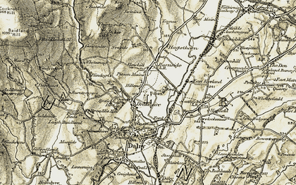 Old map of Auldmuir Resr in 1905-1906