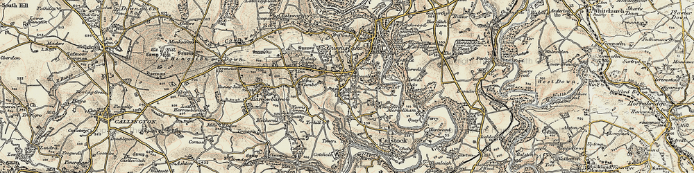 Old map of Albaston in 1899-1900