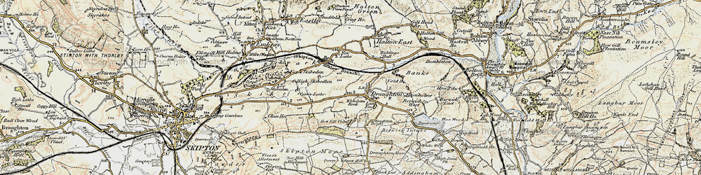 Old map of Wheelam Rock in 1903-1904