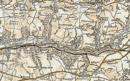 Old map of Largin Wood in 1900