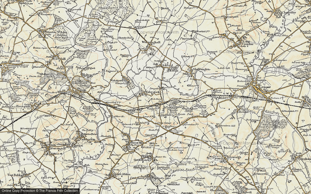 Old Map of Historic Map covering Albury in 1897-1899