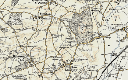 Old map of Draycot Cerne in 1898-1899