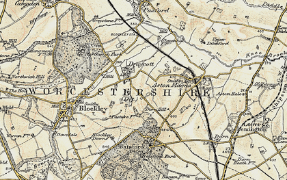Old map of Draycott in 1899-1901