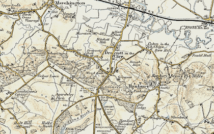 Old map of Draycott in the Clay in 1902